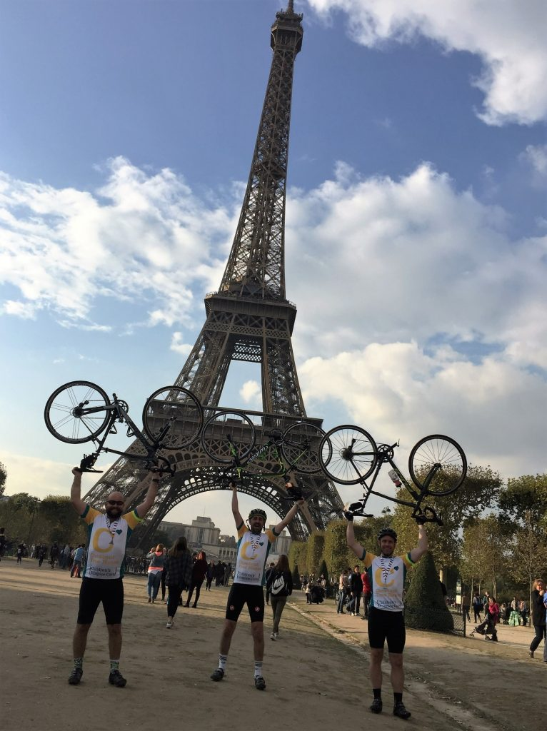 Paris Cycle Finish Line